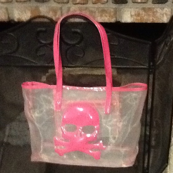 fbc1a5304f Large mesh tote with pink skull. Banned Handbag Ladies Clothing leather  760205 – Skull Time Ladies Bags. LOTEC Women Retro Skull Printed Canvas  Shopping ...